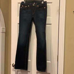 True Religion dark wide leg jeans. Size 30. Great!